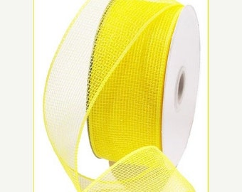 15OFFSALE 2.5 Inch Yellow Deco Mesh RS200029, Deco Mesh Supplies