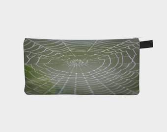Spiderweb in the Mist Photo on Pencil Case Men's Toiletry Case Ladies Make-Up Pouch Carry All Case Perfect Father's Day or Mother's Day Gift