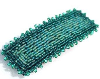 Barrette Hair Clip - Teal Green - Barrette - 4 Inches
