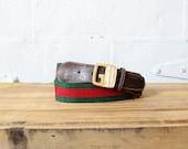Vintage Gucci Belt • 70s Belt • Vintage Designer Belt • Gucci Belt Buckle Made in Italy    GBT003