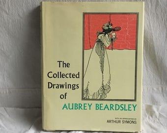 Vintage Aubrey Beardsley book  art book  drawings by Aubrey Beardsley  art nouveau drawings  1890 art