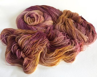 Sea Spiral Sock Yarn. Mulberry Mead