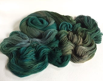 Sea Spiral Sock Yarn. Below Winter Seas