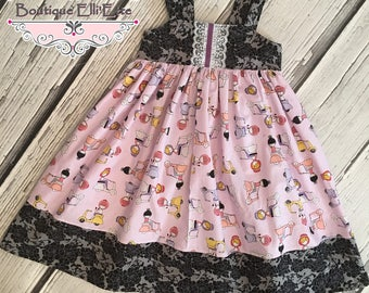 Girls Reverse Knot Dress Scooter Girls Collection Toddler Infant Girls