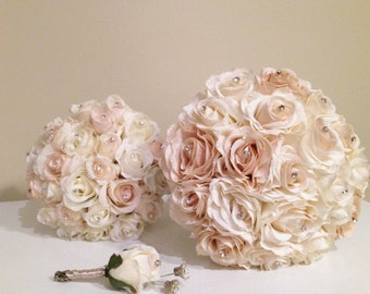 Made to order Bouquet / realistic real-touch roses
