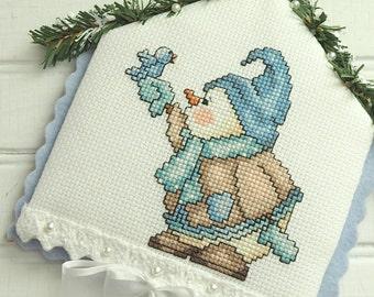 Snowman Bluebird Winter Wall Hanging