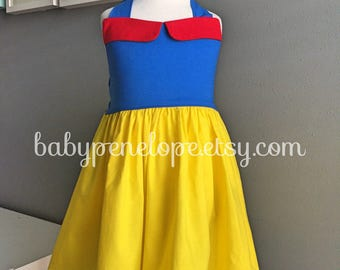 The Marilyn Dress  - Snow White Inspired - Snow White Birthday - First Birthday Outfit- Vintage Inspired Dress - Disney Dress
