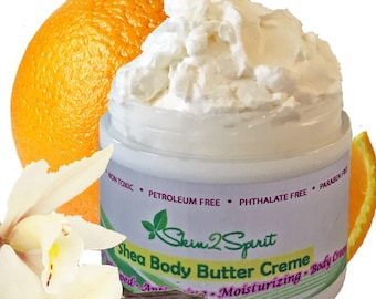 CREAMSICLE Shea Body Butter / Mousse - Truly All Natural - No Synthetic Fragrances - No Toxins - 100 Natural Organic Scent