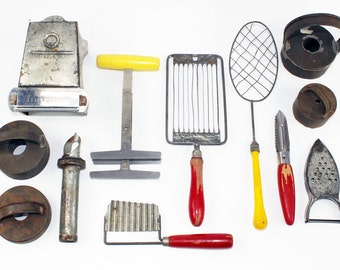 Instant Collection Vintage Kitchen Tools: Set of 12