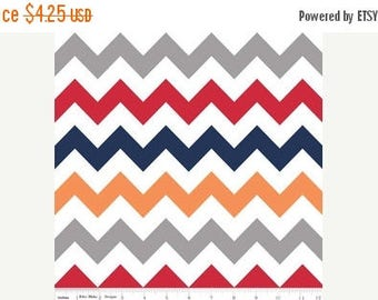 On Sale Riley Blake Fabric - Half Yard of Medium Chevron in Boy