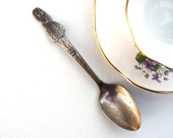 Vintage teaspoon Annette Carlton silverplate spoon girls eating utensils 1930s baby spoon little girl spoon toddler Dionne Quintuplet