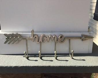 Home Hook / Arrow Hook/ Wall Decor / Home and Arrow Hook/ Wall Hanger/ Home and Garden Decor