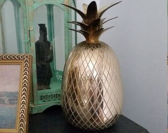 Large Vintage Brass Pineapple