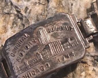 1934 Rare Chicago charm bracelet