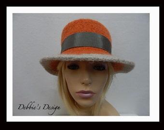 Women's Handmade Cloche Hat-528 Women's Felted Cloche Hat, Women's Cloche Hat, Women's Handmade Cloche, cloche felt hat, Downton abbey