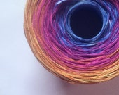Color Change Gradient Yarn - bliss - Moca Cotton Yarn - 6 colors - 540 yards - worsted weight yarn - pure cotton