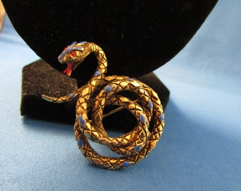 ART Snake Brooch