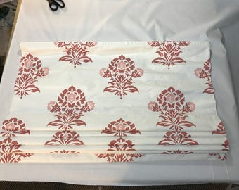 Clearance Roman Shade in Serena and Lily Jaipur in Coral