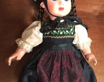 Rare Circa 195O Antique German Vintage Original Fashion Doll Painted Celluloid Drei M 3M Black Girl Rolf Hausser Bild Lilli-maker