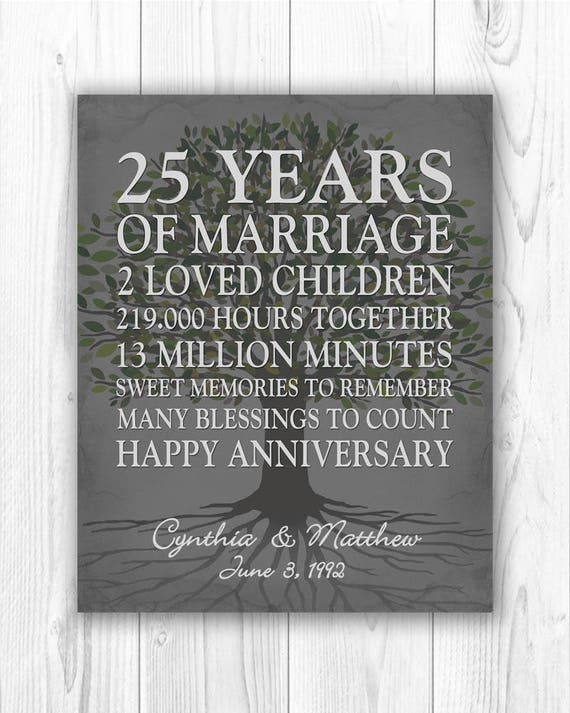 Gift Ideas For 25th Wedding Anniversary For Husband: 25th Anniversary Gift 25 Year Anniversary Gift 25th Wedding