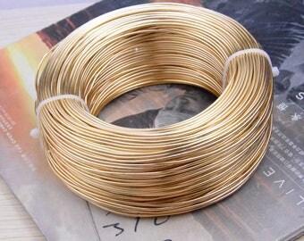 1.5mm wire, aluminium wire, aluminium thread, artistic aluminium wire, craft wire, aluminium cord wire, Aluminium line champagne 10 meters