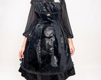 Last Unit! Elegant Gothic Lolita Velvet dress