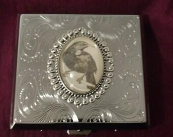Nevermore Raven silver Gothic Cigarette case