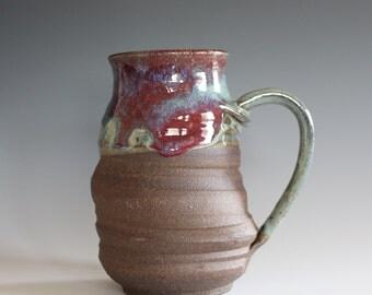 Twisted Mug, 18 oz, unique coffee mug, handmade ceramic cup, handthrown mug, stoneware mug, pottery mug, ceramics and pottery