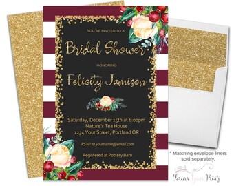 Winter Bridal Shower Invitation - Winter Bridal Shower Invite - Winter Engagement Invitation - Winter Engagement Invite - Winter Wedding