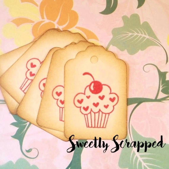 Pink Cupcake Tags ... Treats, Sweets, Tag, Labels, Packaging, Valentine, baked, goodies, goody bag tags