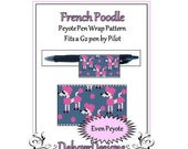 Peyote Beading Pattern (Pen Wrap/Cover)-French Poodle