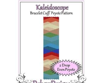 Bead Pattern Peyote(Bracelet Cuff)-Kaleidoscope