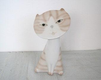 Mid century cat figurine/ OM cat/ ginger cat