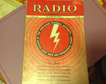 Radio Magazine from June 1937