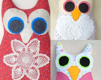 Big Hoot Owl Softie Doll Novelty Pillows