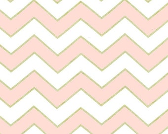 Chic Chevron, Pearlized in Confection, Glitz, Michael Miller, Cotton Fabric, One Yard