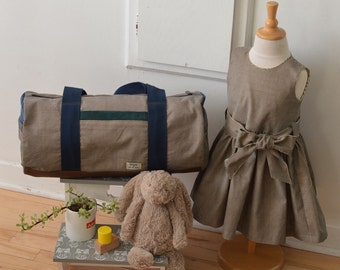 Mom and daughter's bag and dress