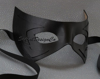 Masquerade Mask Men, Black, Leather Mask, Mens Masquerade Mask, Leather Masks, Venetian Mask, Black Leather Masks, Mardi Gras Mask
