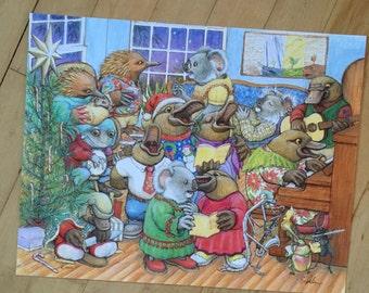 Signed Print, Freddie's Christmas