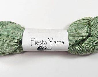 Fiesta La Luz Yarn LL10 Lichen, Silk Yarn, Hand-Dyed, Knitting Yarn, Crochet Yarn
