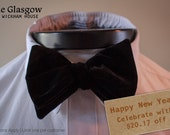 The Glasgow [New Years Special] - Our big bow tie in black velvet