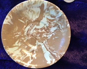 Tiny plate swirl paint design Marking illegible vtg no flaws