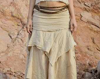 Earth layers skirt + Double Top ~ Earthy Natural Cotton >>~•》Outfit (OS1)