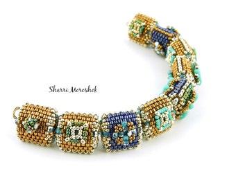 Sale - Reduced 30% - set of 9 Beaded Beads by SharriMoroshok