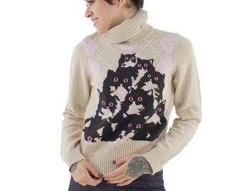 Agyle Crazy Kitty Sweater