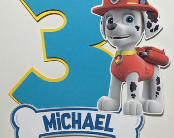PAW PATROL Cake Topper for Birthday Party - Design 2