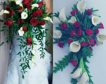 Wedding Bouquet Ornament, Wedding Replica, anniversary Gift, Newlywed, wedding  replica, first christmas ornament, 1st christmas gift