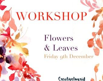 Botanical Watercolor Workshop London | 9 December