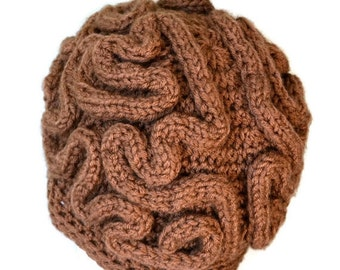 Brain Hat,Brain Beanie,thinking cap,Unisex crochet Beanie,Mens Crochet Beanie,Women hat, Beanie, winter Beanie,Handmade,Gift Under 50