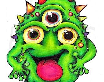 Three Eyed Monster Giclee Art Print